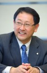 Akio Toyoda, the president of Toyota Motor Company, at an interview in 2008